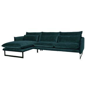 MILAN LOUNGE SOFA LEFT SEVEN PETROL