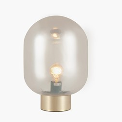LUSTER GLASS ORB TABLE LAMP BRASS