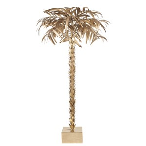 GOLD PALM TREE FLOOR LAMP