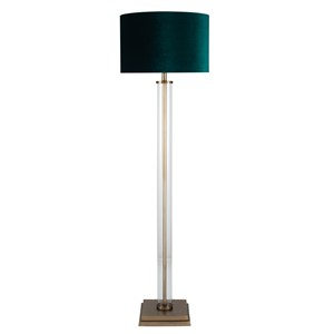 GLASS TUBE FLOOR LAMP BRASS