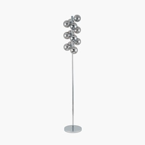 LUSTRE GLASS BALL FLOOR LAMP SILVER