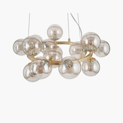 LUSTRE GLASS BALL PENDANT BRASS