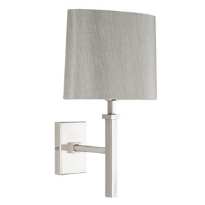 HILTON WALL LAMP SATIN SILVER