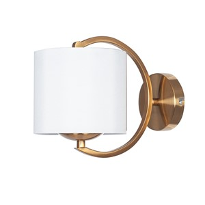 ARCADIA WALL LAMP BRASS/WHITE