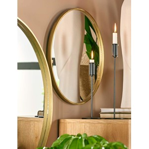 ANTIQUE MIRROR ROUND 50CM