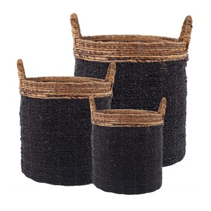 IYABO BASKET BLACK SET/3 (128262/128263/128264)