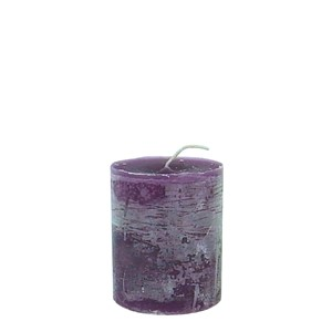 LUDO CANDLE Ø10X15 PURPLE