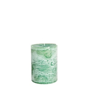 LUDO CANDLE Ø10X15 EMERALDGREEN