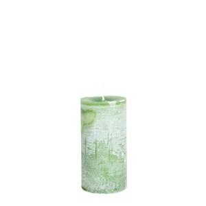 LARS CANDLE Ø7X15 GRASSHOPPERGREEN