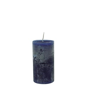 LARS CANDLE Ø7X15 DARK BLUE