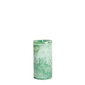 LARS CANDLE Ø7X15 EMERALDGREEN