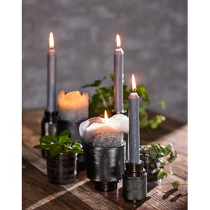 RAW CANDLE HOLDER BLACK NICKEL S
