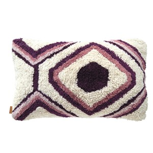 SACHI PILLOW DARK PURPLE 50X30 CM