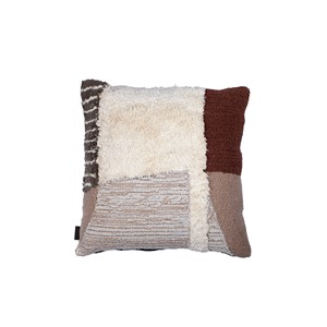 HUDSON PILLOW BROWN 50X50 CM
