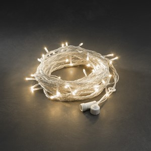 Lysslynge 100 LED amber transparent kabel