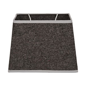 OXFORD COTTON SHADE RECTANGULAR DARK GREY L