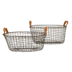 HARVEY BASKET OVAL S/2 (123468/123467)
