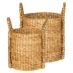 LEAF BASKET NATURAL ROUND S/2 (125461/125462)
