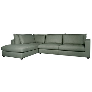 NAPELS LOUNGE SOFA LEFT GREEN