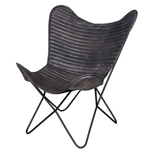 EMPIRE LOUNGE CHAIR GREY 75X87X86