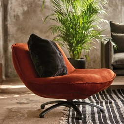 FORLI FAUTEUIL COPPER BLACK LEG