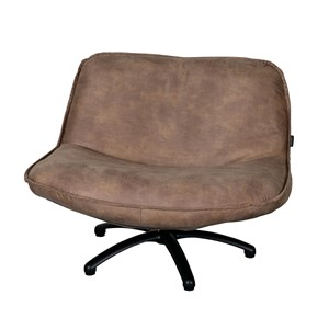 FORLI FAUTEUIL MERSEY BLACK LEG TAUPE