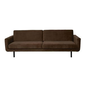 GENUA SOFA VELVET DARK BROWN