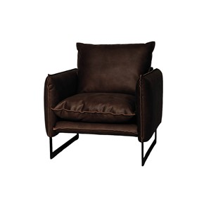 MILAN SOFA 1 SEAT MERSEY DARK BROWN