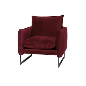 MILAN SOFA 1 SEAT SEVEN WINE RED