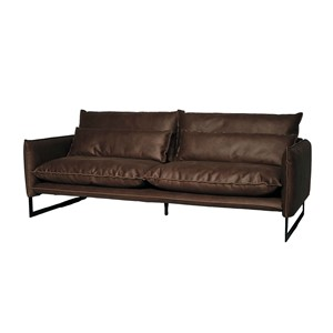 MILAN SOFA 3 SEAT MERSEY LIGHT BROWN