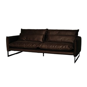 MILAN SOFA 3 SEAT MERSEY DARK BROWN