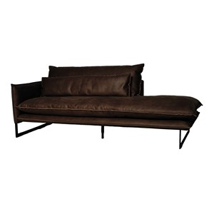 MILAN DAYBED LEFT MERSEY DARK BROWN