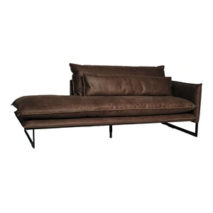 MILAN DAYBED RIGHT MERSEY LIGHT BROWN