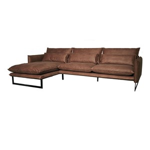MILAN LOUNGE SOFA LEFT MERSEY TAUPE