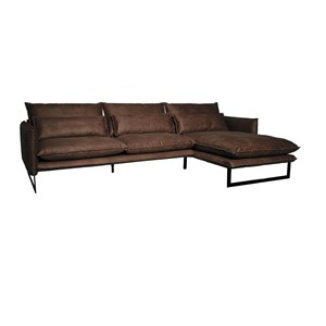 MILAN LOUNGE SOFA RIGHT MERSEY LIGHT BROWN