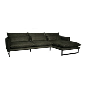 MILAN LOUNGE SOFA RIGHT MERSEY GREEN