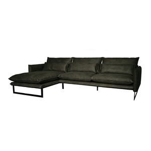 MILAN LOUNGE SOFA LEFT MERSEY GREEN