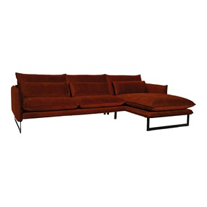 MILAN LOUNGE SOFA RIGHT SEVEN COPPER