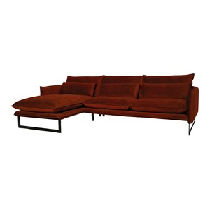 MILAN LOUNGE SOFA LEFT SEVEN COPPER