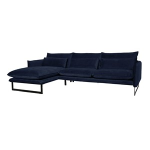 MILAN LOUNGE SOFA LEFT SEVEN NAVY