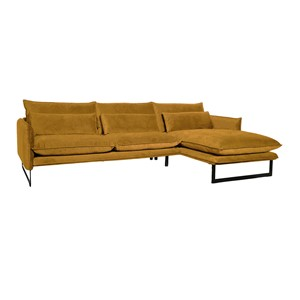 MILAN LOUNGE SOFA RIGHT SEVEN OCRE