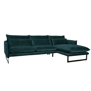 MILAN LOUNGE SOFA RIGHT SEVEN PETROL