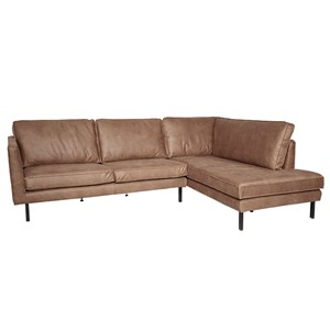 PERUGIA LOUNGE SOFA RIGHT MERSEY TAUPE