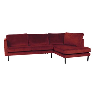 PERUGIA LOUNGE SOFA RIGHT SEVEN SCARLET