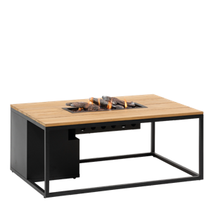COSILOFT 120 BLACK FRAME/TEAK TOP