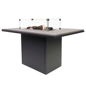 COSILOFT 120 DINING TABLE BLACK FRAME/GREY TOP