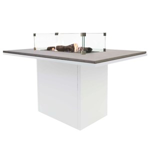 COSILOFT 120 DINING TABLE WHITE FRAME/GREY TOP