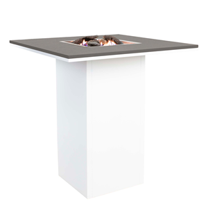 COSILOFT 100 BAR TABLE WHITE FRAME/GREY TOP